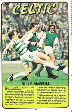 Billy McNeil of Celtic in 1973.