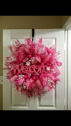 Welcome Deco Mesh Wreath                                                                                                                                                     More