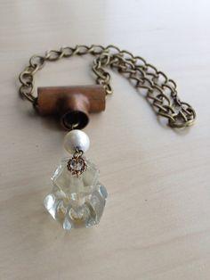 Glass cabinet knob necklace  on Etsy, $45.00