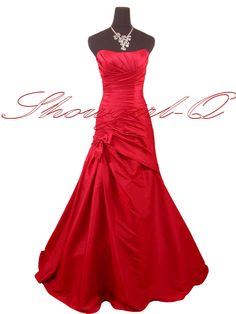 5242 RED PROM DRESSES EVENING GOWN BALL GOWN BRIDESMAID | eBay