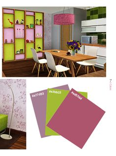 Color scheme idea for my Sims 3 houses, would also be cute for a teen room