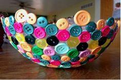 Reciclaje creativo: Fotos de ideas con botones