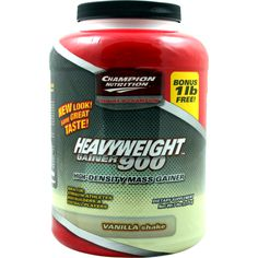 Champion Nutrition Heavyweight Gainer 900 Vanilla Ice Cream 7 lbs | Regular Price: $64.79, Sale Price: $44.99 | OvernightSupplements.com | #onSale #supplements #specials #ChampionNutrition #WeightGainer  | HEAVYWEIGHT IS THE COMPLETE NO COMPROMISE APPROACH TO GETTING BIG NOW One One Thing Can Make You Gain Weight Fast More Calories Ideal For Strength Athletes HEAVYWEIGHT s Smart Calories Help You Gain More Muscle With Less Fat Finally The Ultimate Answer If You Just Can t Gai