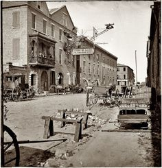 1865. Charleston, South Carolina. Archibald McLeish's Vulcan Iron Works on Cumberland Street