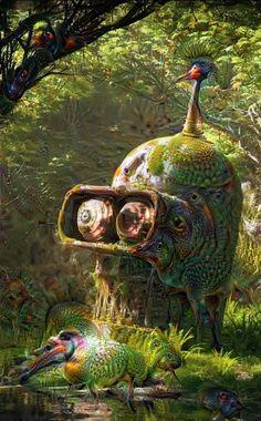 #surreal #deepdream #benber #futurama #fantasy #rdls ANCIENT BENDER'S DEEPDREAM Fantasy Images, Futurama, Optical Illusions, Surrealism, In This Moment, Animals, Art, Animais, Craft Art