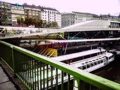 Vienna - Bratislava by Michaela Sibi - A cityshot from last yeast : View to Vienna Schwedenplatz from the bridge of the Danube                                           Channel: Here you can go with ship to Bratislava,                  ...
