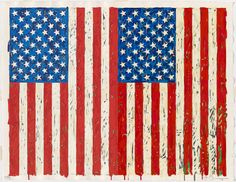 Jasper Johns  Flags I, 1973 I have seen this in person