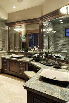 L Shaped Bathroom Countertops . L Shaped Bathroom Countertops . Remodeling Small L Shaped Kitchen Dream Bathrooms, Beautiful Bathrooms, Modern Bathroom, Small Bathroom, Luxury Bathrooms, Master Bathrooms, Bathroom Wall, Bathroom With Vanity, Luxury Bathroom Vanities