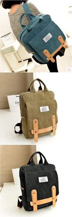 4d5bc3d958 Fashion Leisure School Canvas Backpack. Canvas BackpackBackpack PurseBlack  BackpackSchool Bags ...