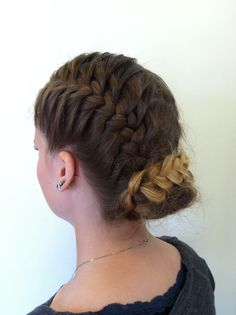 Week 7: over and under braid updo test out