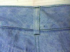 reprendre un jean à la taille ... méthode réalisée plusieurs fois et toujours validée ;)