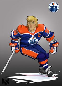 Wayne Gretzky by ratroze. The Great One became the fastest NHL player to score 50 goals on Dec. Nhl Hockey Jerseys, Ice Hockey Players, Nhl Players, Hockey Helmet, Hockey Decor, Hockey World, Wayne Gretzky, Edmonton Oilers, National Hockey League