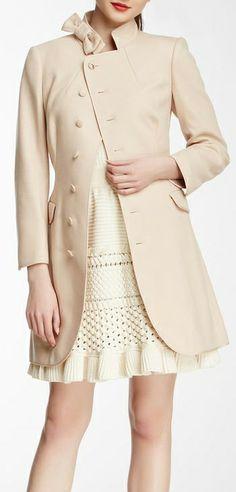 Bow pea coat