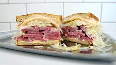 This Reuben sandwich recipe makes enough for one sandwich, including the Russian dressing. Just scale it up to make more sandwiches, and any extra dressing will keep in the fridge. If your meat is … Reuben Sandwich, Corned Beef Sandwich, Sandwich Recipes, Alton Brown, Brisket Flat, Russian Dressing, Steamed Buns, Rye Bread, Slice Of Bread