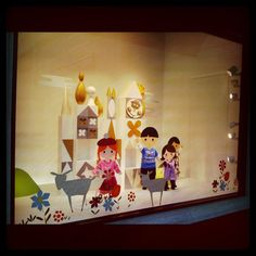 it's a small world Nordstrom window display by AlexGoldman, via Flickr