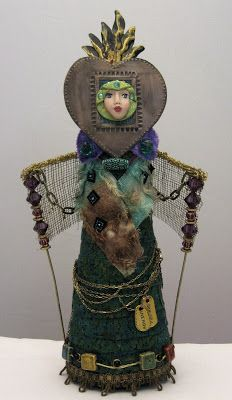 "Mrs. Art Doll Maker: ""WILD ART"" ICON DOLL"