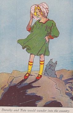 Little Dorothy and Toto of Oz by L. Frank Baum, Illustrated by John R. Neill Rand McNally 1939