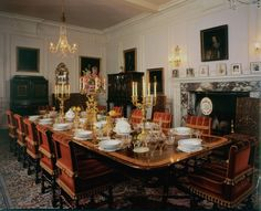 Lovely Dining Room at Knebworth House.