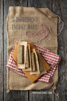 5-Ingredient Energy Bars #recipe via FoodforMyFamily.com
