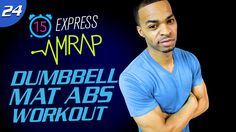 15 Min. Brutal Dumbbell Abs Workout | 15 Min. Express AMRAP Workout #24