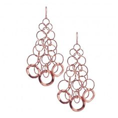 Chandelier Earrings        From the Lite Links Collection: Sterling silver mixed with a precious alloy of 18k gold and plated with 18k rose gold.    $750.00