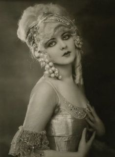 "Ziegfeld Girl: Marion Benda ~ Performed in the Ziegfeld Follies of 1925,""Rosalie"" (1928), and the Ziegfeld musical ""Rio Rita"" (1927-1928).  She was the last woman to date Rudolph Valentino before he died, and in later life, showed up at the Cathedral Museum dressed as The Lady In Black, and professed to be the original."