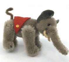 Antique Toys, Vintage Toys, Pull Toy, Red Felt, Plush Animals, Ark, Poodle, 1950s, Elephant