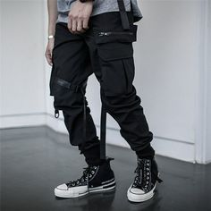 Lady Pants Leisure Fashion Women Cargo Pants Junior Girls Casual Elastic High Waisted Loose Fit Straight Harem Baggy Jogger Pants Harem Baggy Punk Hip Hop Dance Outdoor Trousers Slim Fit Lightweight
