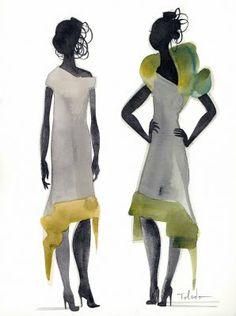 manila fashion observer: Isabel Toledo On The Radar Henri Matisse, Paris Fashion, Fashion Art, Fashion Design, Garnet Silk, Isabel Toledo, Fashion Sketches, Fashion Illustrations, Rene Gruau