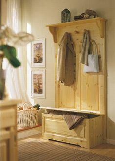 Soggiorno arredato con mobili rustici in pino #Produzione Demar ...