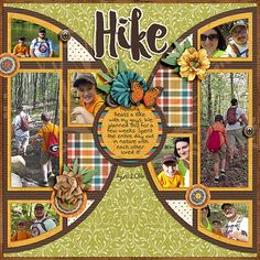 Hike - Scrapbook.com | credits:  Pieces Of Pie Templates  and  Family Heritage Digital Kit  both by JoCee Designs | Digital scrapbooking kit, digital scrapbooking, scrapbooking, scrapbook, summer scrapbook, digital scrapbooking layout