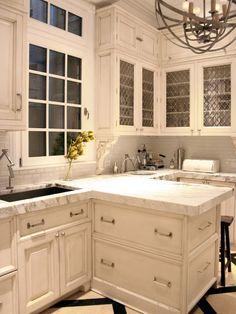 Look at that light fixture! Great cabinet doors too.