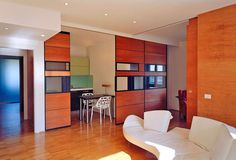 1970's Roman apartment reconfigured as modern Twin Flats!