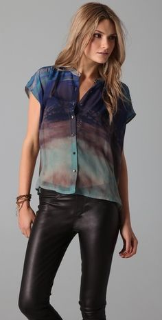 twelfth st by cynthia vincent oversized button down blouse