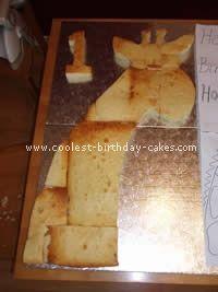 Outline of giraffe cake for birthday cake. @Geneviève Lavoie Cummins, take note. ;-)