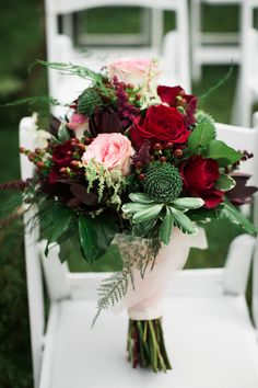 Dreamy Red, Pink & Green West Virginia Wedding|Photographer: Jasmine Rose…