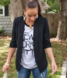How to Style a Graphic Tee…with pieces you already own! « Thirty Something Fashion – Carly Walko