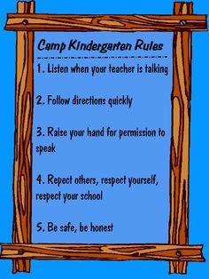 camp classroom - Bing Images Kindergarten Rules, Following Directions, Camping Theme, Bing Images, Teacher, Classroom, School, Class Room, Professor