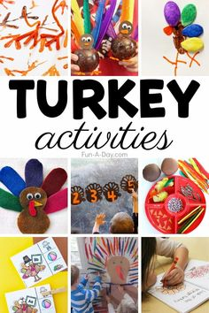 TONS of turkey activities that are perfect Thanksgiving activities for preschool! There are crafts for kids, literacy activities, math activities, and so many more learning activities that are turkey-themed! Early Learning Activities, Literacy Activities, Activities For Kids, Thanksgiving Preschool, Thanksgiving Turkey, Enchanted Learning, Turkey Craft, Preschool Lesson Plans, Kids Fun