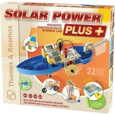http://www.educationaltoysplanet.com/solar-power-plus-science-kit.html Solar Power Plus Science Kit. Build your own solar-powered creations and discover how solar cells generate electricity experimenting with the Solar Power Plus Science Kit from Thames & Kosmos
