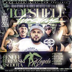 New Event Top Shelf Tuesdays @ Angels Strip Club