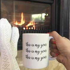 This is My Year Mug 2017 Mug Inspirational Mug by PrettyCollected