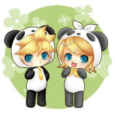 Rin y Len chibi png by cnblueeeex33