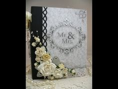 7.14 framing photos ideas▶ Beautiful Monochromatic Keepsake Wedding Scrapbook Mini Album - YouTube