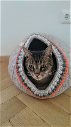 Felted cave for cat or puppy