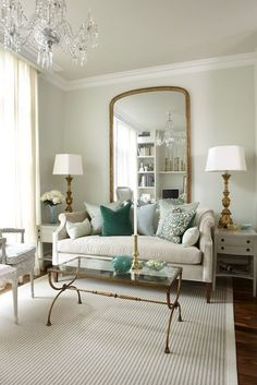 Brass Detailed Neutral Living Room [sarah richardson design]