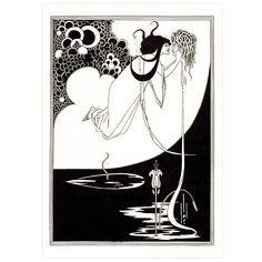 The Climax By Aubrey Beardsley A3 Print