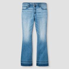 Women's Plus Size Flare Jeans Medium Wash Blue - Ava & Viv™ : Target