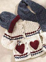 child crochet outerwear w/ instructions