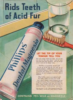Phillips Dental Magnesia ad, 1942 (ACID FUR?)